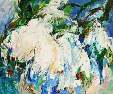 Air of spring - 120 x 100 cm - Abstract schilderij