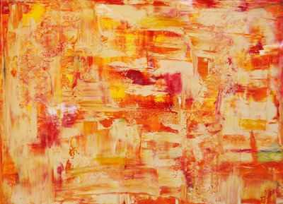 Sun down - 140 x 100 cm - Abstract schilderij