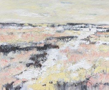 Lovely day - 120 x 100 cm - Abstract landschap schilderij