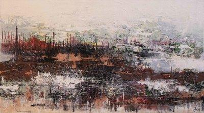 Zicht - 160 x 90 cm - Abstract schilderij