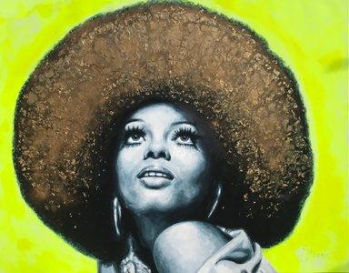 Diana Ross - 140 x 110 cm - Schilderij