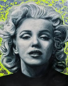 Marilyn Monroe - 110 x 140 cm - Schilderij