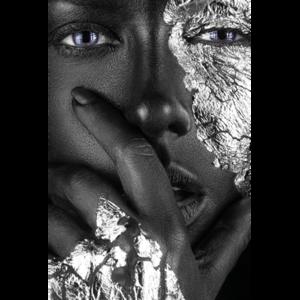 Silver face - Fotokunst vrouw