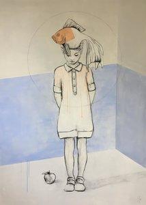 Growth - 110 x 150 cm - Schilderij vrouw