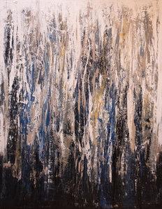 Bosuilen - 140 x 180 cm - Groot abstract schilderij