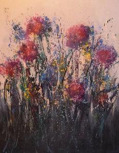 Vlijtig - 120 x 150 cm - Abstract schilderij