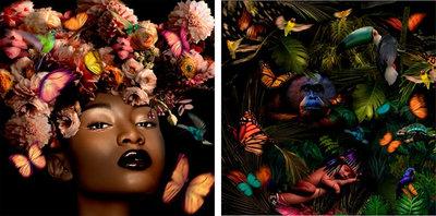 Tweeluik (Beauty) - 200 x 100 cm - Fotokunst