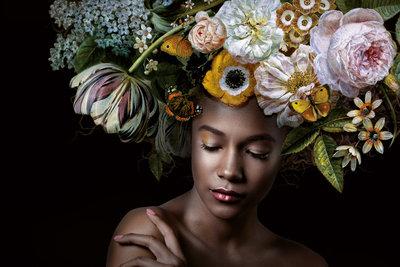 Flowerthoughts - Fotokunst vrouw