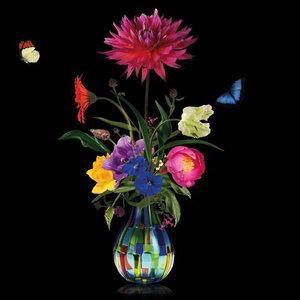 Flower vase - Fotokunst bloemen vaas