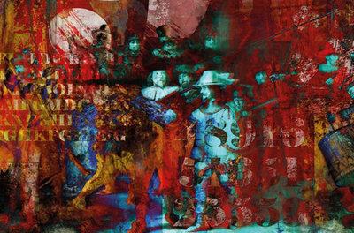Rode Nachtwacht - Fotokunst Nachtwacht Rembrandt