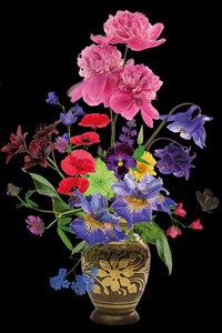 Colorful vase - Fotokunst bloemen vaas bloemenvaas