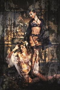 Lace seduction - Fotokunst vrouwen kanten ondergoed