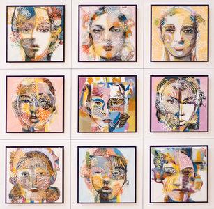 Serie VII - 66 x 66 cm - Epoxy schilderij