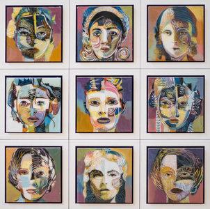 Serie VIII - 66 x 66 cm - Epoxy schilderij