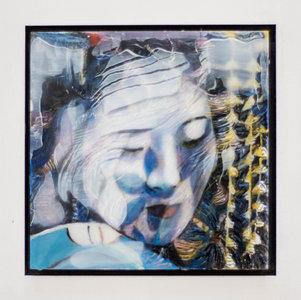 Kleurrijke vrouw V - 22 x 22 cm - Epoxy schilderij