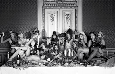 The last supper BW