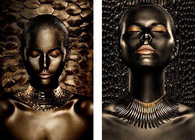 Tweeluik (Golden Age en Nuba Queen) - XL! - Fotokunst