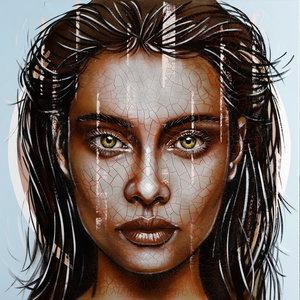 Powerful - 110 x 110 - Vrouwen schilderij