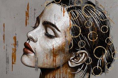 Thoughts - 150 x 100 - Vrouwen schilderij