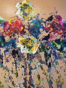 Floriental - 120 x 150 cm - Abstract Schilderij