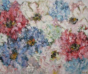 Soltanto 110 x 130 Bloemen schilderij