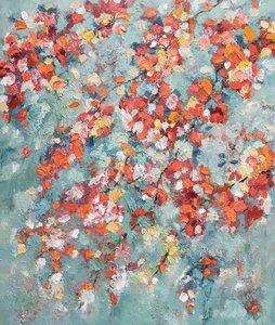 Whirling Leaves - 100 x 120 cm - Bloemen schilderij