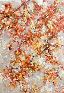 Dancing leaves - 100 x 140 - Bloesem schilderij