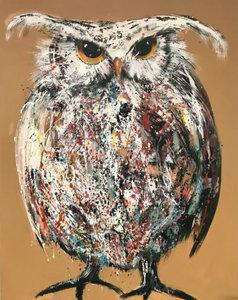 Held - 120 x 150 cm - Schilderij uil