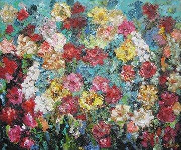 Solo Fiori 115 x 95 Bloemen schilderij
