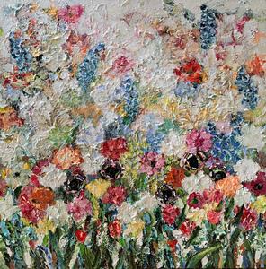 Passion 130 x 130 Bloemen schilderij