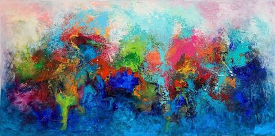 Divine  - 160 x 80 cm - Abstract schilderij
