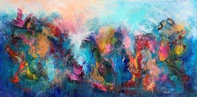 Colour Deepness - 160 x 80 cm - Abstract schilderij