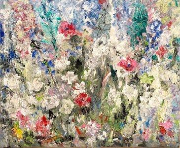 Lily Marneffe schilderkunst dikke bloemen