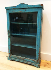 Ophang kastje blauw
