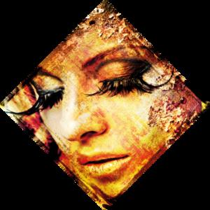 Eyelashes - Fotokunst vrouw