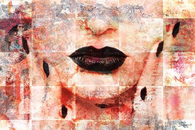Face in Pastel Rose - Fotokunst vrouw