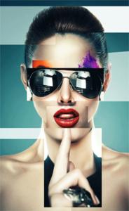 The Sunglasses - Fotokunst vrouw