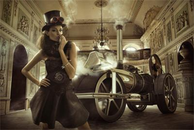 Old Fashion - Fotokunst vrouw