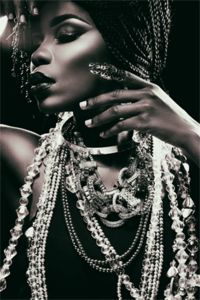 Glitter - Fotokunst vrouw
