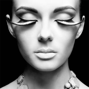 Portrait in Black and White - Fotokunst vrouw