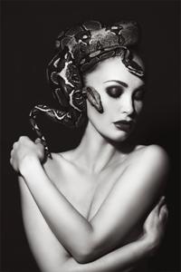 SnakeWoman - Fotokunst vrouw