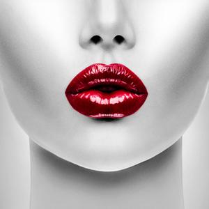 Red Lips - Fotokunst vrouw