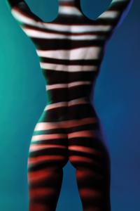 Striped ll - Fotokunst vrouw