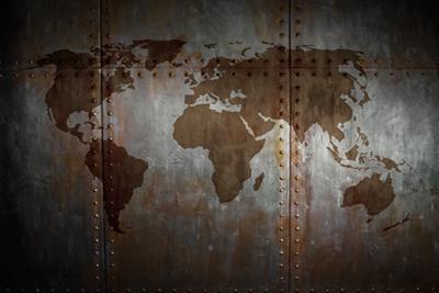 Fotokunst wereldkaart