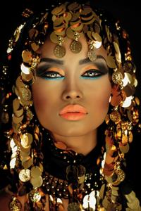 Golden Hair - Fotokunst vrouw
