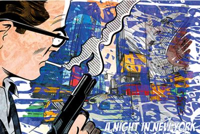 A Night in New York - Fotokunst popart