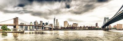 Fotokunst skyline 150x50 cm