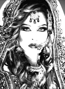 Queen - Fotokunst vrouw