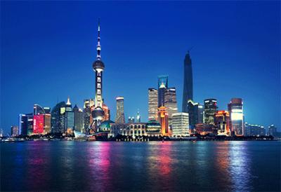 Fotokunst skyline Shanghai
