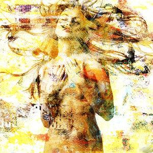 Sensually Yellow - Fotokunst vrouw